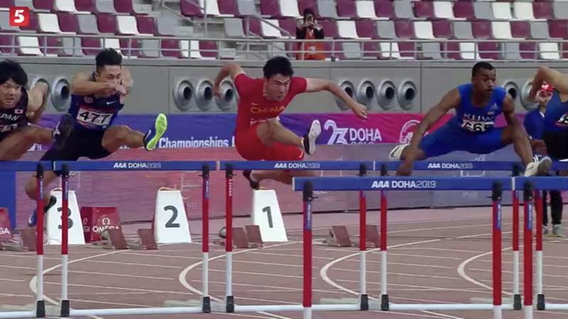 田径亚锦赛 / 谢文骏创个人最佳成绩 为中国夺男子首金
