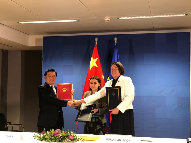 中欧首签民航领域协定 可从欧盟28个成员国飞往中国