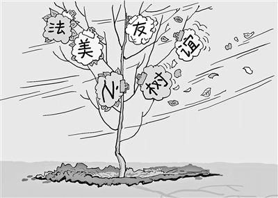美法友谊树死了的隐喻