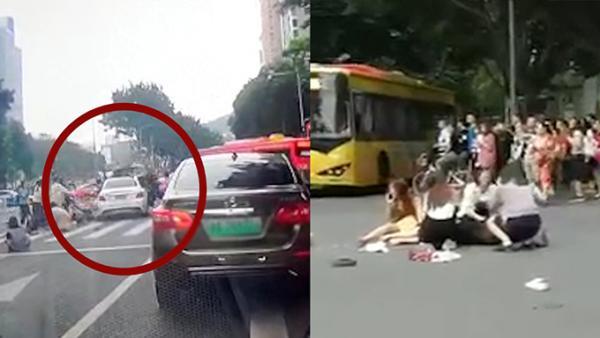 突发!广州一奔驰突然冲向人群致13伤,涉事女司机已被控制